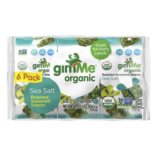 Gimme Seaweed Snack - Sea Salt - 6x5g