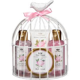 Floral Bouquet Peony Carousel Bath Set - Pink - 4 piece