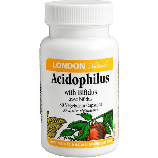 London Drugs Naturals Acidophilus with Bifidus Vegetarian Capsules - 30's