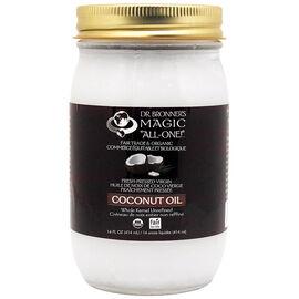 Dr. Bronner's Fresh-Pressed Virgin Whole Kernel Unrefined Coconut Oil - 414 mL