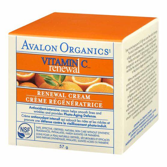 Avalon Organics Vitamin C Renewal Facial Cream - 57g