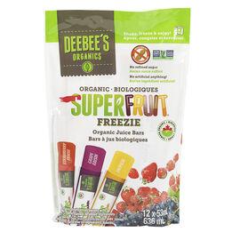 Deebee's Organic's Freezie Juice Bars - Super Fruit - 12x53ml