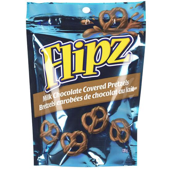 Flipz Milk Chocolate Pretzels - 120g