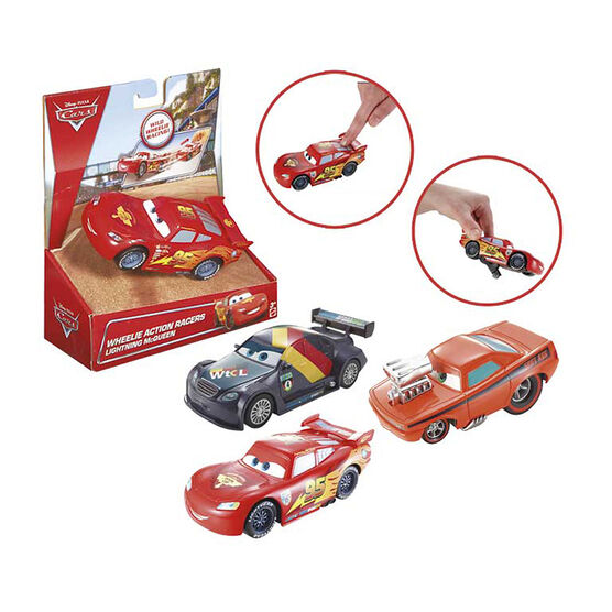 Disney Cars Wheelie Action Pullback Racers - Assorted
