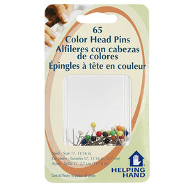 Helping Hand Colour Head Pins - 65 pack