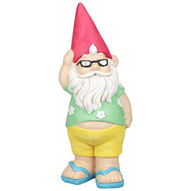 Summer Garden Gnome - 22.5 x 22 x 55cm