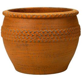 London Drugs Embossed Terracotta Indoor Pot
