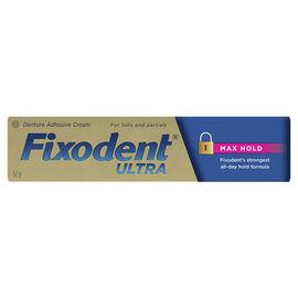 Fixodent Ultra Denture Adhesive Cream - Max Hold - 62g