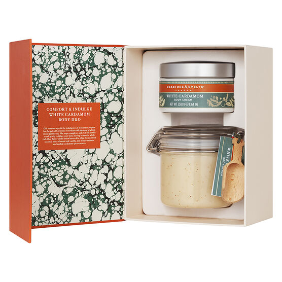Crabtree & Evelyn Comfort & Indulge White Cardamom Body Duo - 2 piece