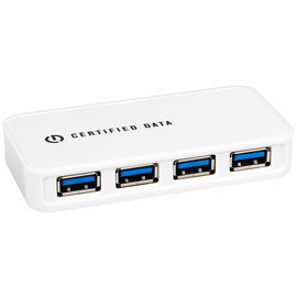 Certified Data 4-Port USB Hub - 3.0  - White - GUH-3917