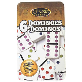 Double 6 Dominoes Tin