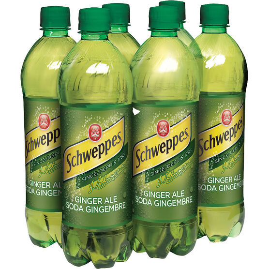 Schweppes Ginger Ale - 6 x 710ml