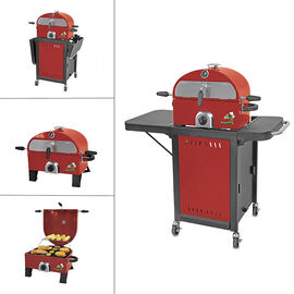 Portable BBQ/Pizza Oven with Stand - Red - GOC1509MR