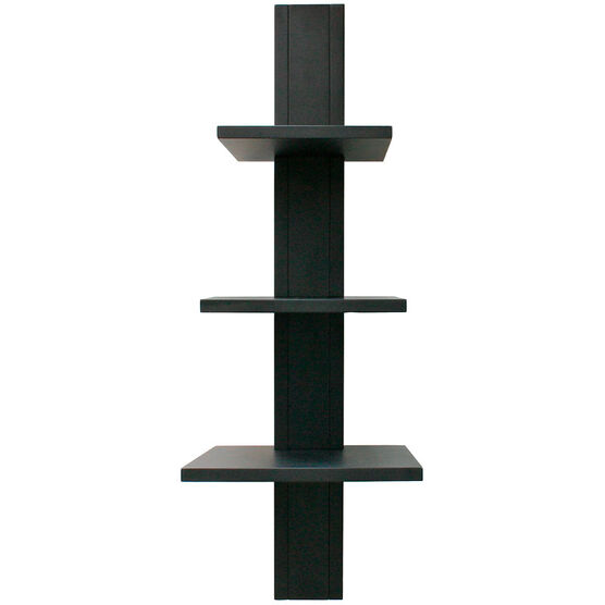 Alton Wall Shelf - Black - 3 Tier