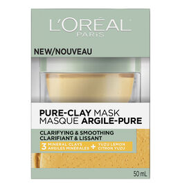 L'Oreal Pure-Clay Mask - Clarifying & Smoothing - 50ml