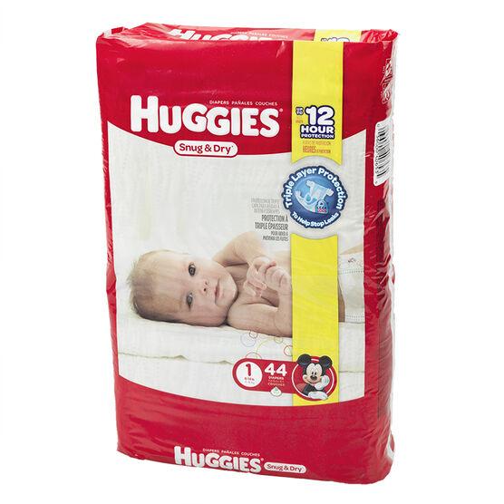 Huggies Snug & Dry Disposable Diaper - Size 1 - 44's