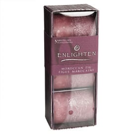 Enlighten Mini Pillar Candle - Moroccan Fig - 3 pack