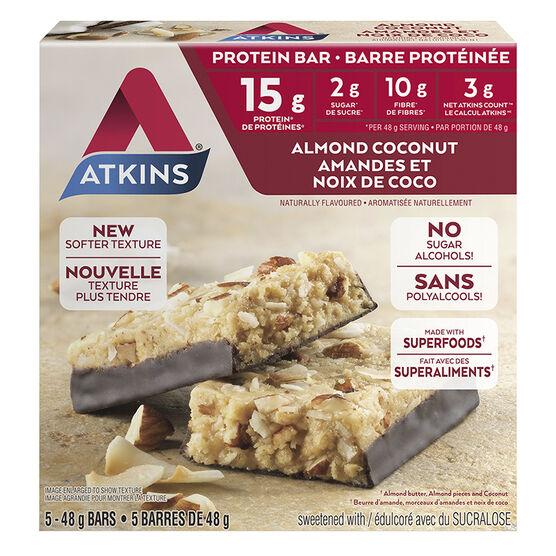 Atkins Protein Bar - Almond Coconut - 5 x 48g