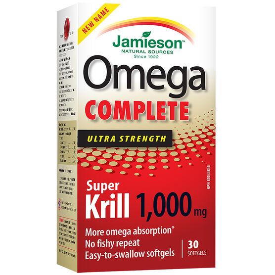 Jamieson Omega Complete Super Krill - 1000mg - 30's