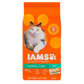 Iams Adult ProActive Cat Food - Hairball Care - 3.5lbs