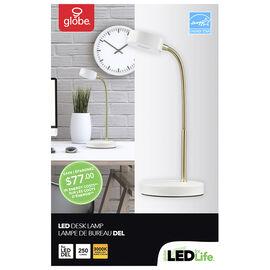 Globe LED Desk Lamp - Gold/White