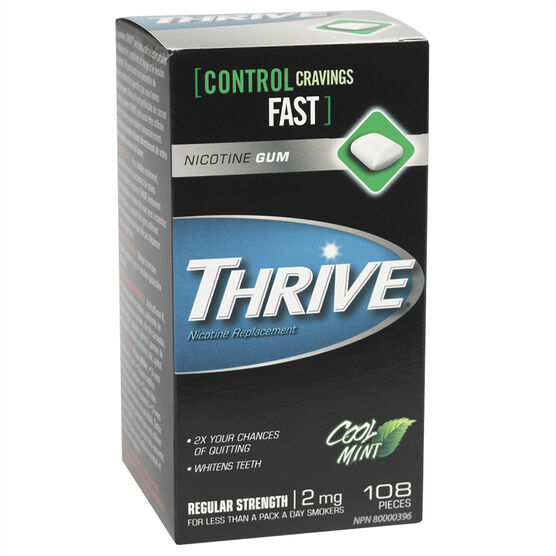 Thrive 2mg Stop Smoking Aid Gum - Cool Mint - 108's