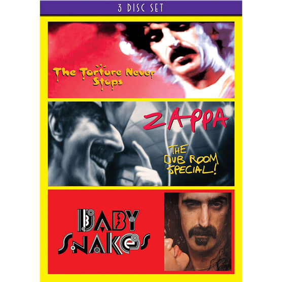 Frank Zappa 3 Concert Set - Baby Snakes / Dub Room / Torture - DVD