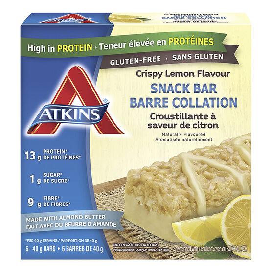 Atkins Snack Bar - Crispy Lemon Flavour - 5 x 40g