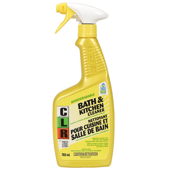 clr bathroom kitchen cleaner 760ml london drugs