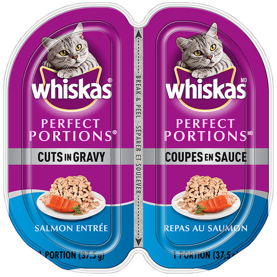 Whiskas Perfect Portion Cuts in Gravy - Salmon Entrée - 2 x 37.5g