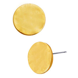 Kenneth Cole Shiny Disk Stud Earrings - Gold Tone
