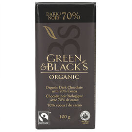 Green & Black's Organic Chocolate - 70% Dark - 100g