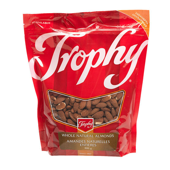 Trophy Whole Natural Almonds - 800g