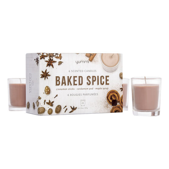 Yummi 2oz Jar Candle - Baked Spice - 6 pack