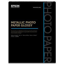 Epson Metallic Photo Paper - Glossy - 8.5x11inch - 25 sheets - S045589
