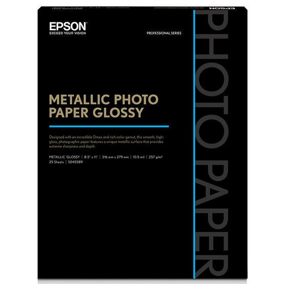 Epson Metallic Photo Paper - Glossy - 8.5x11inch - 25 sheets - S045589