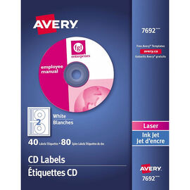 Avery CD Labels - White - 40's - 7692