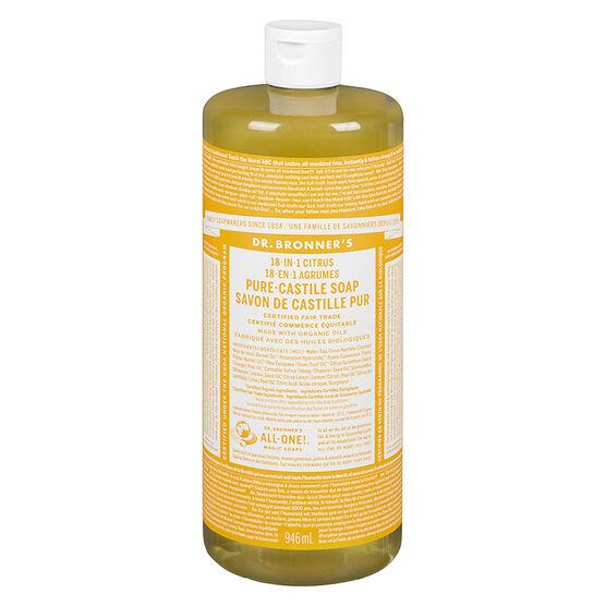 Dr. Bronner's 18-IN-1 Pure-Castile Liquid Soap - Citrus - 946ml