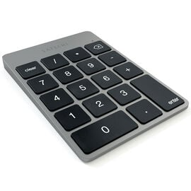 Satechi Slim Rechargeable Aluminum Bluetooth Keypad - Space Grey with Black Keys - ST-SALKPM