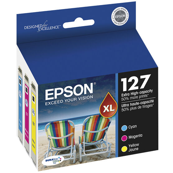Epson 127 Extra High-Capacity Ink Cartridge - Multi-Pack - T127520-S