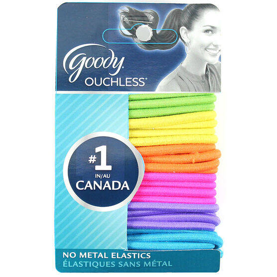 Goody Ouchless Elastics - Neon - 24's