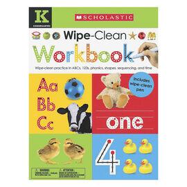 Scholastic Early Learners Wipe-Clean Workbook