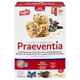Leclerc Praeventia Cookies - Dark Chocolate & Wild Blueberry - 210g
