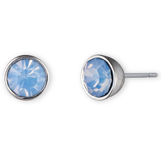 Lonna Lilly Pendant Button Stud Earrings - Blue