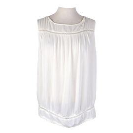 Lava Sleeveless Woven Shirt - Blanco