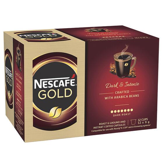 Nescafe Gold Dark Roast - 12 pack