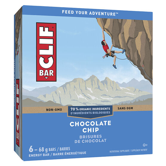 Clif Bar Energy Bar - Chocolate Chip - 6 x 68g