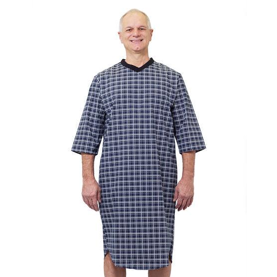 Silvert's Men's Open-Back Nightgown