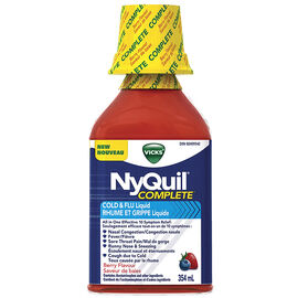 Vicks NyQuil Complete Cold and Flu Liquid - Berry - 236ml