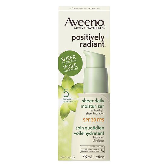Aveeno Active Naturals Positively Radiant Sheer Daily Moisturizer - SPF 30 - 73ml